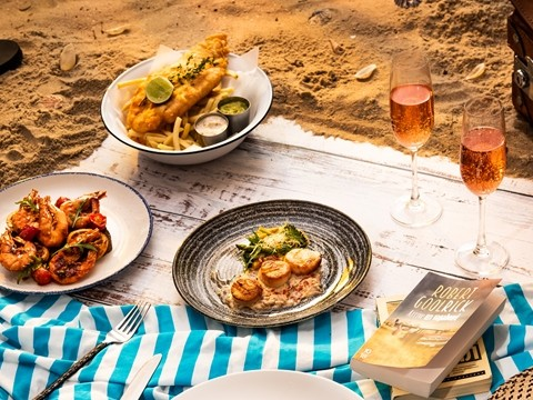 3-Course Western Set Lunch for 2 persons at Beach Society